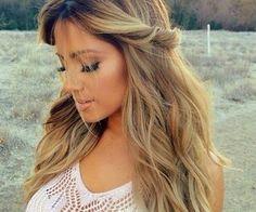 Blonde brown hair.