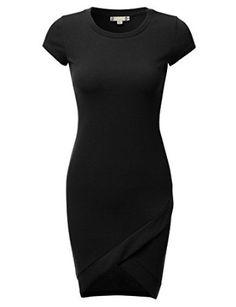 DRESSIS Women's Tulip Hem Cap Sleeve Stretchy Fitted Midi Dress - http://amzn.to/2ajkoFV
