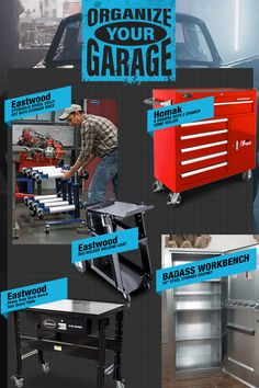 Struggling to keep things organized? Clean up the clutter and find what you need, when you need it, with these organization essentials! Garage Shed, Garage Tools, Diy Garage, Garage Storage, Welded Metal Projects, Tool Storage Cabinets, Garage Workshop Organization, Garage Solutions, Cool Garages