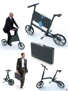 foldable bike built in briefcase--freaking amazing!