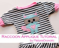 Raccoon Applique Tutorial - Quilting and Sewing - Melanie Dramatic