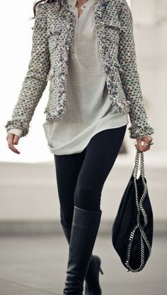 Love the jacket and shirt underneath!