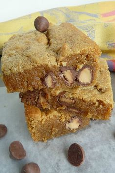 These Peanut Butter Blondies are absolutely, positively, without a doubt, the best I have ever made! I saw some new peanut butter filled chocolate chips at the grocery store and I just had to give ...