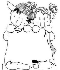 CARTELES PARA MENSAJES - Paulita 2 - Álbumes web de Picasa Coloring Pages For Girls, Colouring Pages, Coloring For Kids, Borders For Paper, Borders And Frames, Doodle Frames, Doodle Art, Space Artwork, Kids Art Class