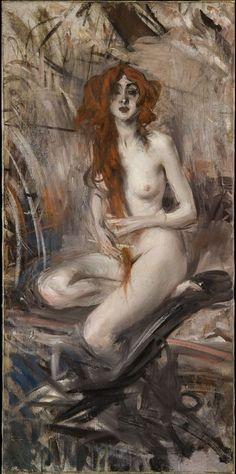 Giovanni Boldini (1842-1931) was an Italian genre and portrait painter.
