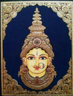 "arjuna-vallabha: ""Devi by Kannan Tanjore Arts """