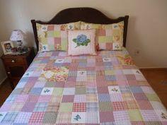 MARCIA BARRETTO patchwork: COLCHA EM NINE PATCH