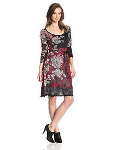 Desigual Damen Kleid VEST_CELINE, Knielang, Gr. 38 (Herstellergröße: M), Rot (FRESA 3001)