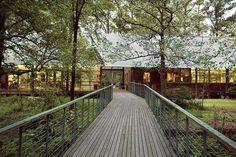 Hilltop Arboretum, Louisiana State University, Baton Rouge, Louisiana. A project by Lake|Flato Architects.