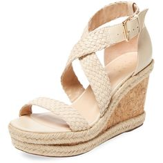 66618f31ac5de3 Alex + Alex Women s Crisscross Wedge Sandal - Cream Tan - Size 10 ( 119