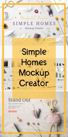 Simple Homes Mockup Creator Create premium quality images to showcase your poster frame presentations, website headers, Etsy, I