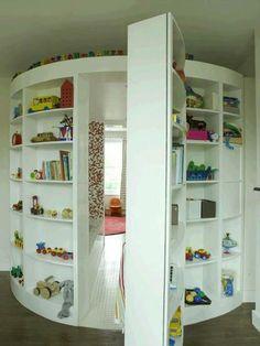 Childs reading room hidden behind toy shelves 31 Beautiful Hidden Rooms And Secret Passages Awesome Bedrooms, Cool Rooms, Awesome Beds, Cool Bedroom Ideas, Totally Awesome, Beautiful Bedrooms, Dream Rooms, Dream Bedroom, My New Room