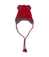 Egg by Susan Lazar Tomato Red Alpaca Fleece Mouse Hat