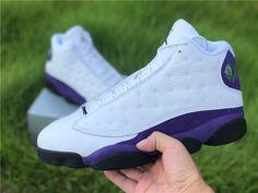 Air Jordan 13 Los Angeles Lakers Jordan 13, Jordan Shoes, Gold Color Combination, Purple Suede, Los Angeles Lakers, Basketball Shoes, White Leather, Air Jordans, Sneakers Nike