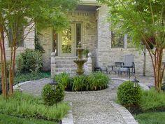 Gardening & Landscaping:Beautiful Design Gravel Patios For Landscaping  Beauty Gravel Patios Ideas