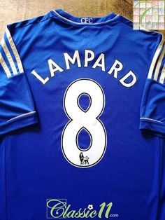 1806d362d Official Adidas Chelsea home football shirt from the 2012 13 season.  Complete with Lampard