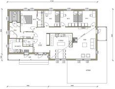 Talomallit   Luonnospankki   1-kerros   L-13139 / 142 m², paljon hyviä ideoita, vähän iso tosin