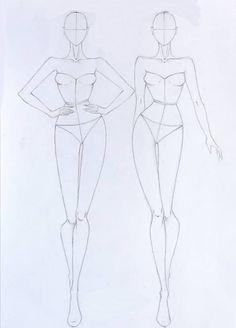Dress Design Drawing, Dress Design Sketches, Fashion Design Sketchbook, Fashion Design Drawings, Art Drawings Sketches Simple, Fashion Sketches, Fashion Drawing Tutorial, Fashion Model Drawing, Fashion Figure Drawing