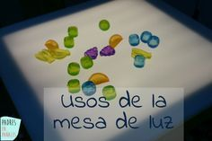 Usos de la mesa de luz para niños. Juegos, actividades y recursos para usar con niños de 0-3 años sobre todo Montessori Activities, Infant Activities, Maria Montessori, Activities For Kids, Crafts For Kids, Reggio Emilia, Sensory Motor, Activity Games, Kids Education