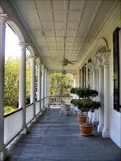 Gov. Thomas Bennett house, Charleston  Upstairs Veranda by itsbrandoyo, via Flickr