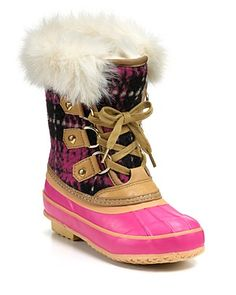 "SHUT THE FRONT DOOR!! They named a boot with my first AND middle name?! You know my daughter must have these!    Juicy Couture Girls' ""Sarabeth"" Snowboots - Sizes 11-12 Toddler; 13, 1-4 Child  Orig $150.00  Sale $75.00"