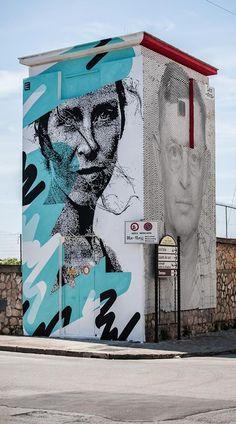 "Street art ""Emozionata"" (Memorie Urbane, Gaeta, Italy) by EIME"