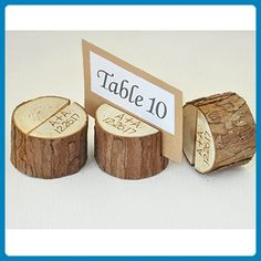 Custom Rustic Wedding Table Number 1-10, Wood Table Numbers Holder Party Wedding Table Name Card Holder, Rustic Table Decoration - Venue and reception decor (*Amazon Partner-Link)