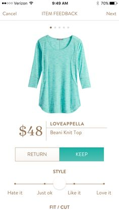 Loveappella Beani Knit Top $48.  Stitch Fix has some great options for late summer and fall!  Want to try Stitch Fix? Sign up here....https://www.stitchfix.com/referral/5198264