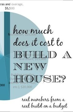 Have you ever been curious about what people actually spend to build a house? Check out this post about the budget to build a new home - from basement to roof. Buying a House #homeowner