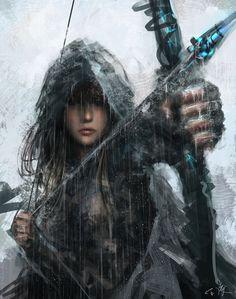 Archer under the Rain