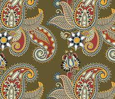 Seamless pattern fabric by karakotsya on Spoonflower - custom fabric