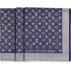 Buy best louis vuitton scarf Monogram Denim Shawl in  http   www.louisbagsesale 282f3c61de2