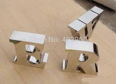 Factory Outlet Outdoor stainless steel letter/ stainless steel advertising letters for shop name Electronic Signs, Metal Letters, Usb Flash Drive, Advertising, Stainless Steel, Lettering, Electronics, Outdoor, Shopping