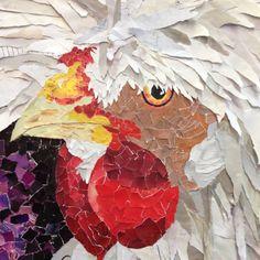 Fine art - magazine collage by Shelley Schenker. Polish Hen! (Week 5 of the 52 week challenge).