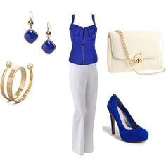 i love white and blue, created by julia-pressley on Polyvore