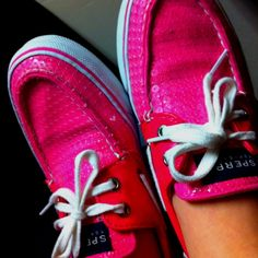 SPARKLY Pink Sperrys... I bought these exact shoes a few months ago and I LOVE THEM!!!  I've gotten several compliments on them too!  :)