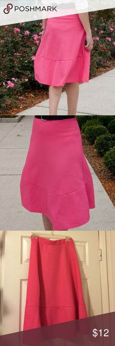 H&M Midi Skirt Skirt is in excellent condition, worn a couple times. Waist is 13 inches and length is 28 inches. Although the material is not thick, there is no see through problem. Color is hot pink. H&M Skirts Midi