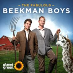 "THE FABULOUS BEEKMAN BOYS  Josh Kilmer-Purcell and Dr. Brent Ridge are not your average couple. They have transplanted themselves from New York City to Beekman Farm in upstate New York, where they are raising 80 goats, two pigs, a dozen chickens and a narcissistic llama -- and learning that the ""simple life"" isn't so simple.  http://beekman1802.com/"
