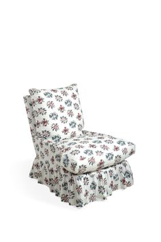 A loose cover in Lisieux Rose - Original on Soane Britain's Bergere Chair. The poplin cotton fabric is a faithful replica of a late century screen printed French cotton quilt. Cotton Quilts, Cotton Fabric, Bergere Chair, Furniture Collection, Spring Collection, Armchairs, Side Chairs, Poplin, 18th Century