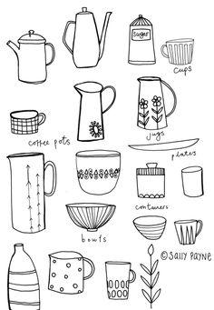 Illustration kitchen-line