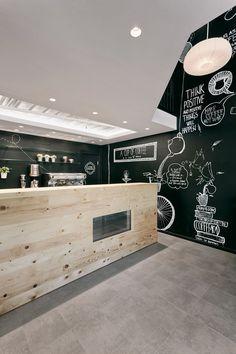 Stock Coffee, Niš, 2014 by Arhitektura Budjevac #blackboard #drawing #coffee #bar #caffè