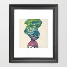 Augustus Waters Framed Art Print by Mei Lee - $30.00