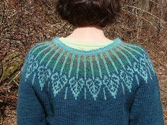 aspen yoke back by Meg Swanson.  yarnbee, via Flickr check www.schoolhousepress.com for the pattern