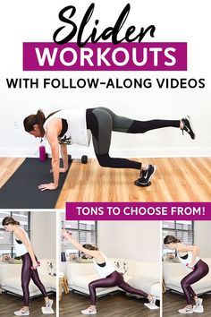 To build endurance, you do not need to spend hours of your every day life training and doing intense exercises. Leg Workout At Home, Flat Belly Workout, Boxing Workout, Fun Workouts, At Home Workouts, Body Workouts, Slider Exercises, Low Impact Workout, Workout Videos