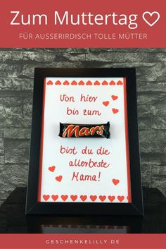 A nice gift idea for Mother's Day. With this Mars gift you w.- A nice gift idea for Mother's Day. With this Mars gift you will be the … – Modern A nice gift idea for Mother& Day. With this Mars gift you will be the - Great Mothers Day Gifts, Fathers Day Presents, Presents For Boyfriend, Presents For Kids, Diy Presents, Fathers Day Crafts, Boyfriend Gifts, Mother Day Gifts, Diy Gifts
