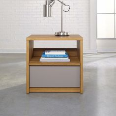 Sauder Soft Modern Night Stand, Brown