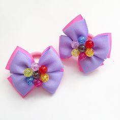 Фотография Making Hair Bows, Diy Hair Bows, Hair Bow Tutorial, Baby Hair Clips, Baby Girl Hair, Felt Bows, Ribbon Art, Diy Hair Accessories, Purple Hair