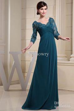Vestidos mama de la novia azul