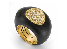 """""""Capri Plus"""" bracelet in yellow gold with wood and diamonds by Roberto Coin Lydia Courteille Jewelry, Bold Rings, International Jewelry, Roberto Coin, Van Cleef Arpels, Jewelry Branding, Luxury Jewelry, Jewelry Trends, Color Trends"""