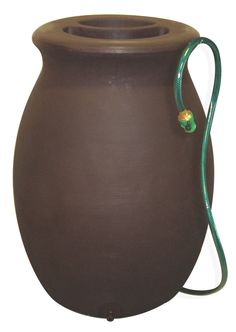 Algreen Products Agua Rain Barrel 50-Gallon, Dark Brown
